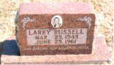 RUSSELL, LARRY - Carroll County, Arkansas   LARRY RUSSELL - Arkansas Gravestone Photos