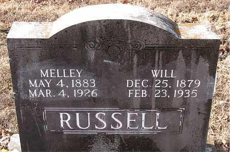 RUSSELL, MELLEY - Carroll County, Arkansas | MELLEY RUSSELL - Arkansas Gravestone Photos