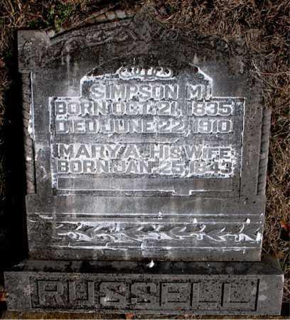 RUSSELL, SIMPSON M. - Carroll County, Arkansas | SIMPSON M. RUSSELL - Arkansas Gravestone Photos