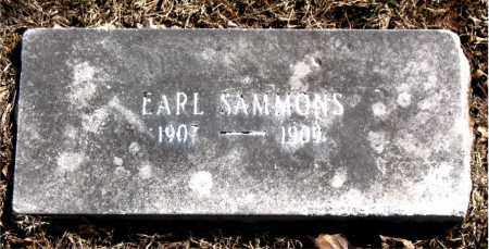 SAMMONS, EARL - Carroll County, Arkansas | EARL SAMMONS - Arkansas Gravestone Photos