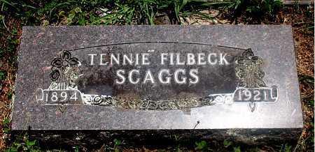 SCAGGS, TENNIE - Carroll County, Arkansas | TENNIE SCAGGS - Arkansas Gravestone Photos
