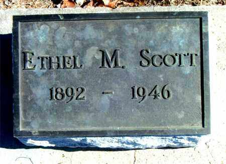 SCOTT, ETHEL M. - Carroll County, Arkansas   ETHEL M. SCOTT - Arkansas Gravestone Photos