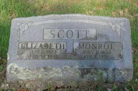 SCOTT, ELIZABETH - Carroll County, Arkansas | ELIZABETH SCOTT - Arkansas Gravestone Photos