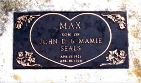 SEALS, MAX - Carroll County, Arkansas   MAX SEALS - Arkansas Gravestone Photos