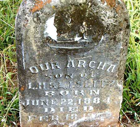 SEITZ, ARCH  A. - Carroll County, Arkansas | ARCH  A. SEITZ - Arkansas Gravestone Photos