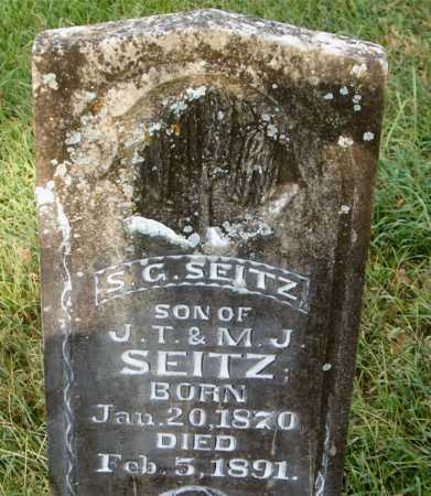 SEITZ, S.  G. - Carroll County, Arkansas | S.  G. SEITZ - Arkansas Gravestone Photos