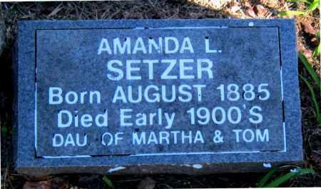 SETZER, AMANDA L - Carroll County, Arkansas | AMANDA L SETZER - Arkansas Gravestone Photos