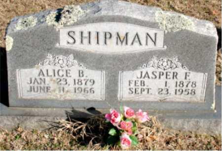 SHIPMAN, JASPER  F. - Carroll County, Arkansas | JASPER  F. SHIPMAN - Arkansas Gravestone Photos