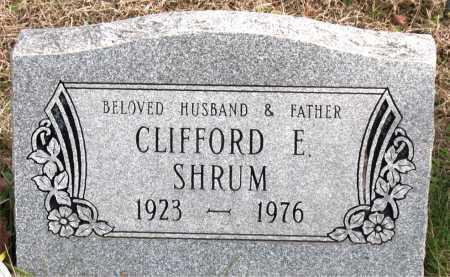 SHRUM, CLIFFORD  E. - Carroll County, Arkansas | CLIFFORD  E. SHRUM - Arkansas Gravestone Photos