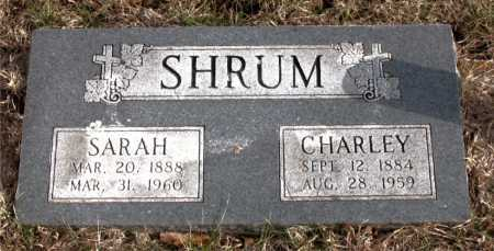 SHRUM, SARAH - Carroll County, Arkansas | SARAH SHRUM - Arkansas Gravestone Photos