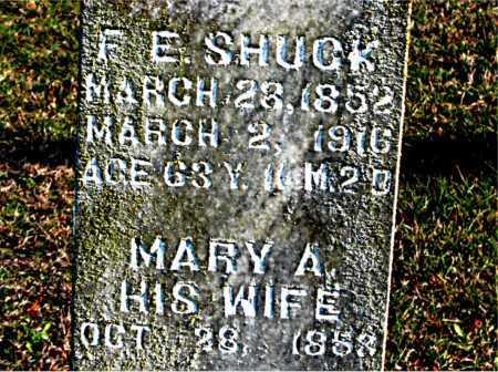 SHUCK, F.  E. - Carroll County, Arkansas | F.  E. SHUCK - Arkansas Gravestone Photos