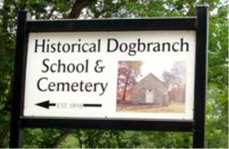 *DOGBRANCH CEMETERY SIGN,  - Carroll County, Arkansas    *DOGBRANCH CEMETERY SIGN - Arkansas Gravestone Photos