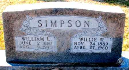 SIMPSON, WILLIE  W. - Carroll County, Arkansas | WILLIE  W. SIMPSON - Arkansas Gravestone Photos
