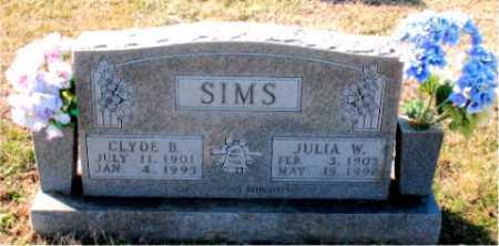 SIMS, JULIA W. - Carroll County, Arkansas | JULIA W. SIMS - Arkansas Gravestone Photos