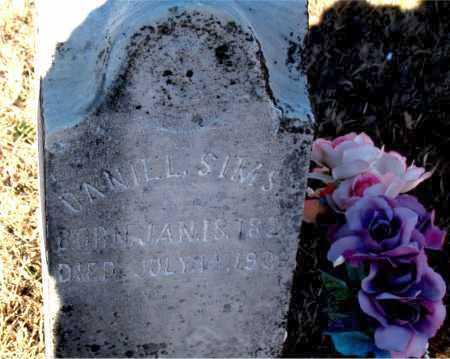 SIMS, DANIEL - Carroll County, Arkansas | DANIEL SIMS - Arkansas Gravestone Photos