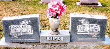 RISK SIMS, NORA - Carroll County, Arkansas | NORA RISK SIMS - Arkansas Gravestone Photos