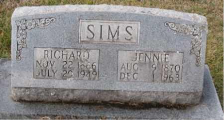 SIMS, RICHARD - Carroll County, Arkansas | RICHARD SIMS - Arkansas Gravestone Photos
