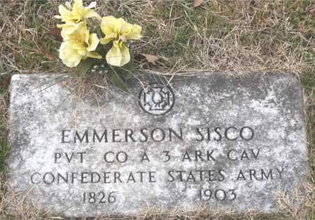 SISCO (VETERAN CSA), EMMERSON - Carroll County, Arkansas   EMMERSON SISCO (VETERAN CSA) - Arkansas Gravestone Photos
