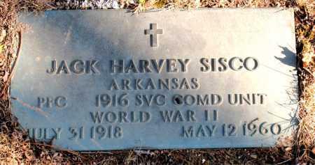 SISCO (VETERAN WWII), JACK HARVEY - Carroll County, Arkansas | JACK HARVEY SISCO (VETERAN WWII) - Arkansas Gravestone Photos