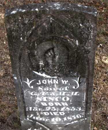 SISCO, JOHN W - Carroll County, Arkansas | JOHN W SISCO - Arkansas Gravestone Photos