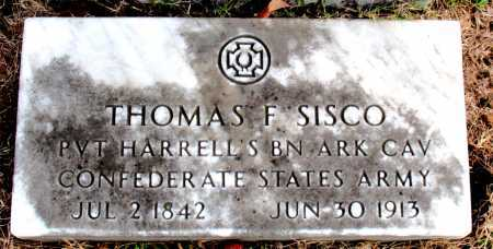 SISCO (VETERAN CSA), THOMAS  F. - Carroll County, Arkansas | THOMAS  F. SISCO (VETERAN CSA) - Arkansas Gravestone Photos