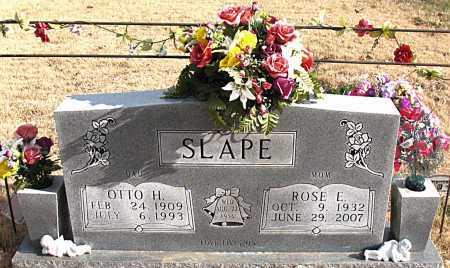 SLAPE, OTTO  H. - Carroll County, Arkansas | OTTO  H. SLAPE - Arkansas Gravestone Photos