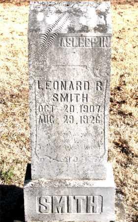 SMITH, LEONARD R. - Carroll County, Arkansas | LEONARD R. SMITH - Arkansas Gravestone Photos