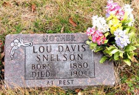 SNELSON, LOU DAVIS - Carroll County, Arkansas | LOU DAVIS SNELSON - Arkansas Gravestone Photos