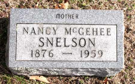 MCGEHEE SNELSON, NANCY - Carroll County, Arkansas | NANCY MCGEHEE SNELSON - Arkansas Gravestone Photos