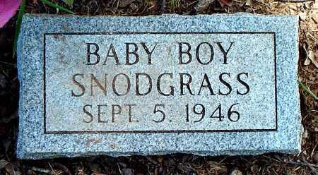 SNODGRASS, INFANT SON - Carroll County, Arkansas   INFANT SON SNODGRASS - Arkansas Gravestone Photos