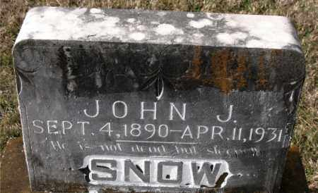 SNOW, JOHN J. - Carroll County, Arkansas | JOHN J. SNOW - Arkansas Gravestone Photos