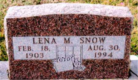SNOW, LENA  M. - Carroll County, Arkansas   LENA  M. SNOW - Arkansas Gravestone Photos