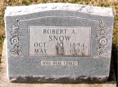 SNOW, ROBERT A. - Carroll County, Arkansas | ROBERT A. SNOW - Arkansas Gravestone Photos