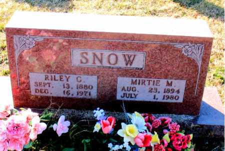 SNOW, RILEY  C. - Carroll County, Arkansas | RILEY  C. SNOW - Arkansas Gravestone Photos