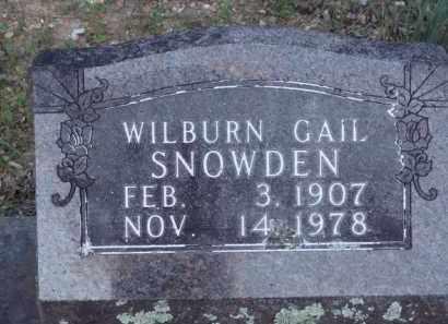SNOWDEN, WILBURN GAIL - Carroll County, Arkansas   WILBURN GAIL SNOWDEN - Arkansas Gravestone Photos