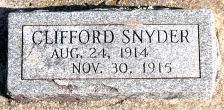 SNYDER, CLIFFORD - Carroll County, Arkansas | CLIFFORD SNYDER - Arkansas Gravestone Photos