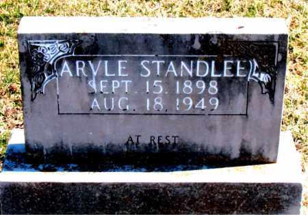 STANDLEE, ARVLE - Carroll County, Arkansas   ARVLE STANDLEE - Arkansas Gravestone Photos