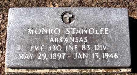 STANDLEE (VETERAN), MONRO - Carroll County, Arkansas   MONRO STANDLEE (VETERAN) - Arkansas Gravestone Photos