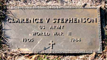 STEPHENSON  (VETERAN WWII), CLARENCE  V - Carroll County, Arkansas | CLARENCE  V STEPHENSON  (VETERAN WWII) - Arkansas Gravestone Photos
