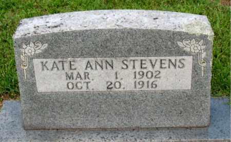 STEVENS, KATE ANN - Carroll County, Arkansas | KATE ANN STEVENS - Arkansas Gravestone Photos