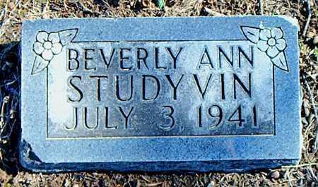STUDYVIN, BEVERLY ANN - Carroll County, Arkansas   BEVERLY ANN STUDYVIN - Arkansas Gravestone Photos