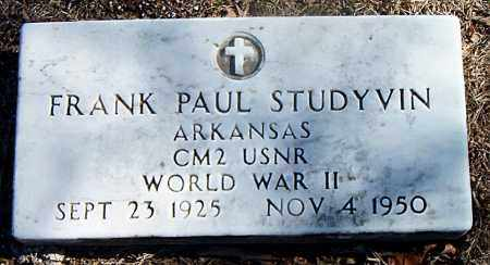 STUDYVIN  (VETERAN WWII), FRANK PAUL - Carroll County, Arkansas | FRANK PAUL STUDYVIN  (VETERAN WWII) - Arkansas Gravestone Photos