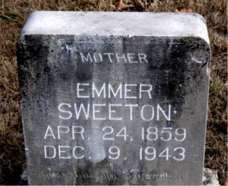 SWEETON, EMMER - Carroll County, Arkansas | EMMER SWEETON - Arkansas Gravestone Photos