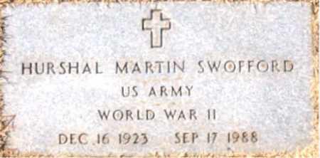SWOFFORD (VETERAN WWII), HURSHAL MARTIN - Carroll County, Arkansas | HURSHAL MARTIN SWOFFORD (VETERAN WWII) - Arkansas Gravestone Photos