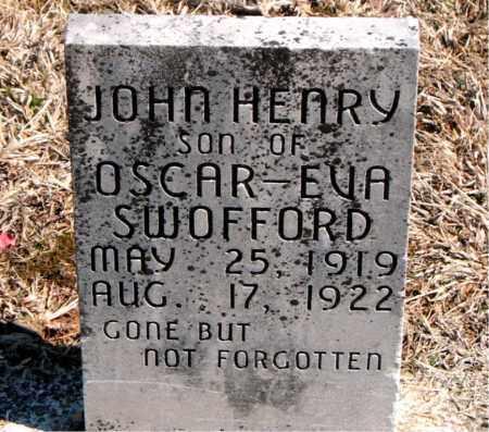 SWOFFORD, JOHN HENRY - Carroll County, Arkansas | JOHN HENRY SWOFFORD - Arkansas Gravestone Photos