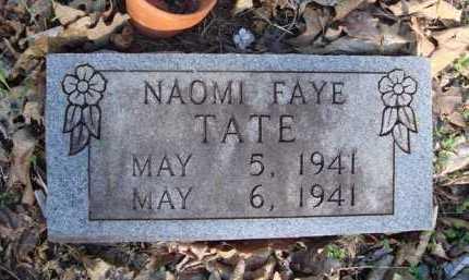 TATE, NAOMI FAYE - Carroll County, Arkansas | NAOMI FAYE TATE - Arkansas Gravestone Photos