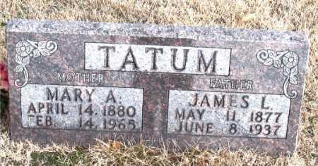 TATUM, MARY A - Carroll County, Arkansas | MARY A TATUM - Arkansas Gravestone Photos