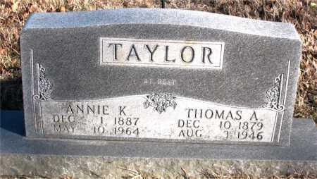 TAYLOR, THOMAS A. - Carroll County, Arkansas | THOMAS A. TAYLOR - Arkansas Gravestone Photos