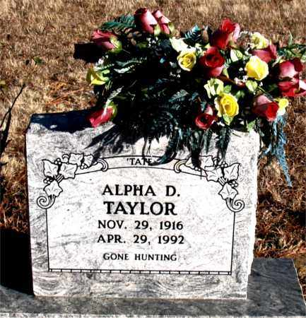 TAYLOR, ALPHA D. - Carroll County, Arkansas   ALPHA D. TAYLOR - Arkansas Gravestone Photos
