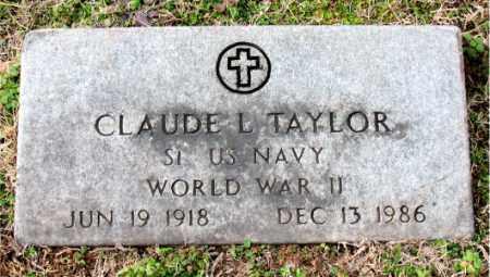 TAYLOR (VETERAN WWII), CLAUDE L. - Carroll County, Arkansas   CLAUDE L. TAYLOR (VETERAN WWII) - Arkansas Gravestone Photos